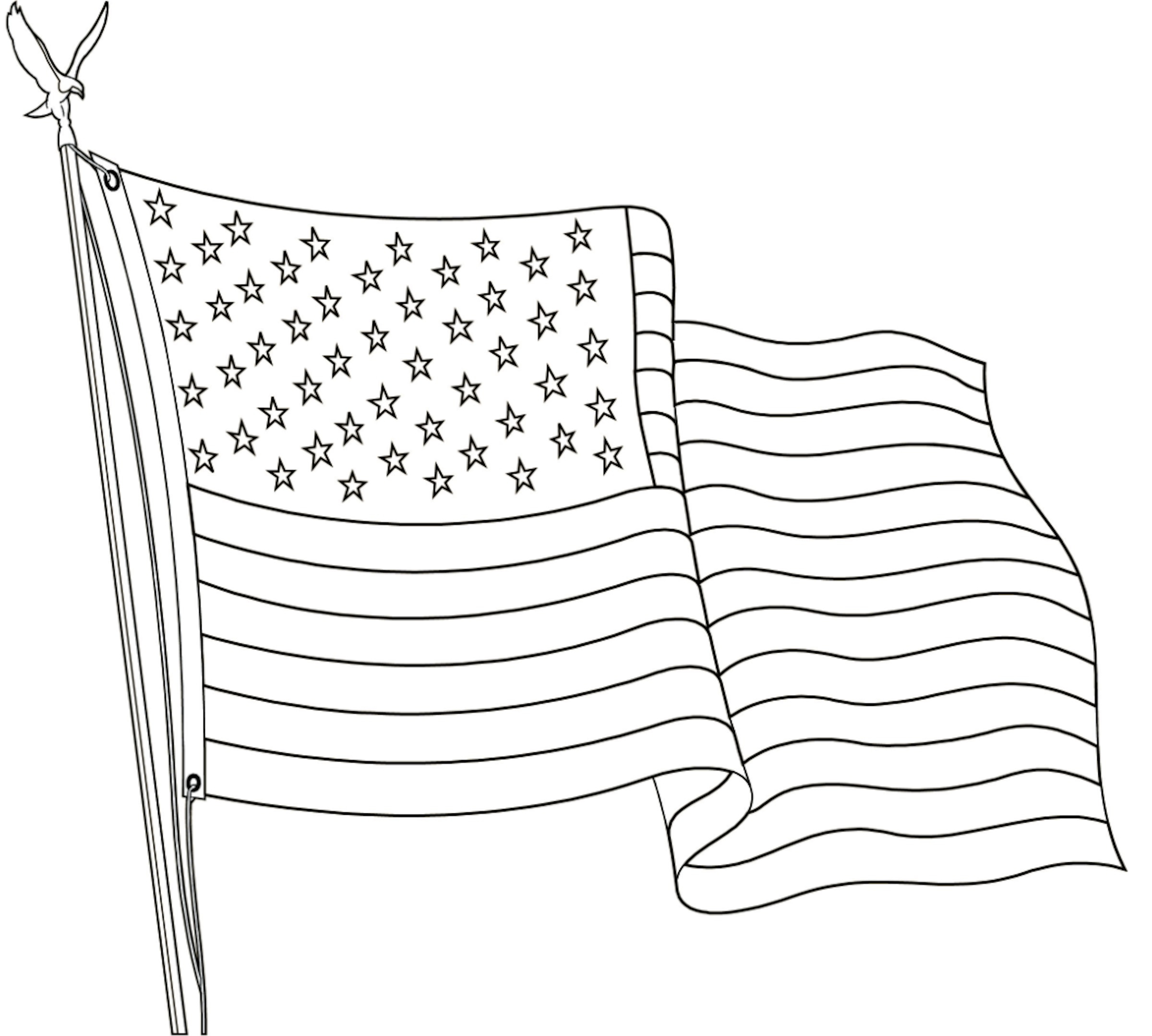 The American Flag Coloring Page Images Of Flag Color Page Sabadaphnecottage