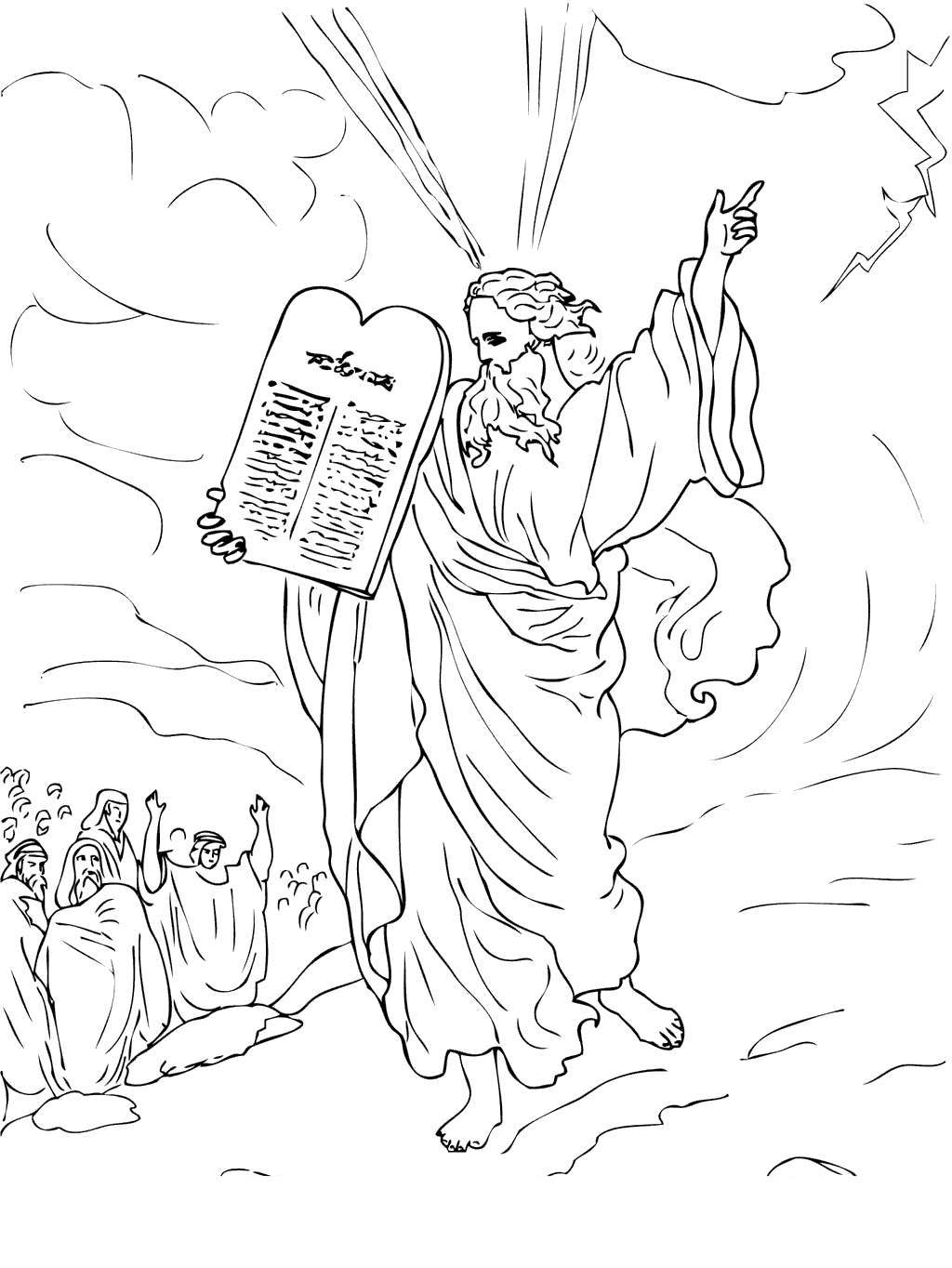 The Golden Calf Coloring Page Golden Calf Coloring Pages Moses Black And White Kidcolorings