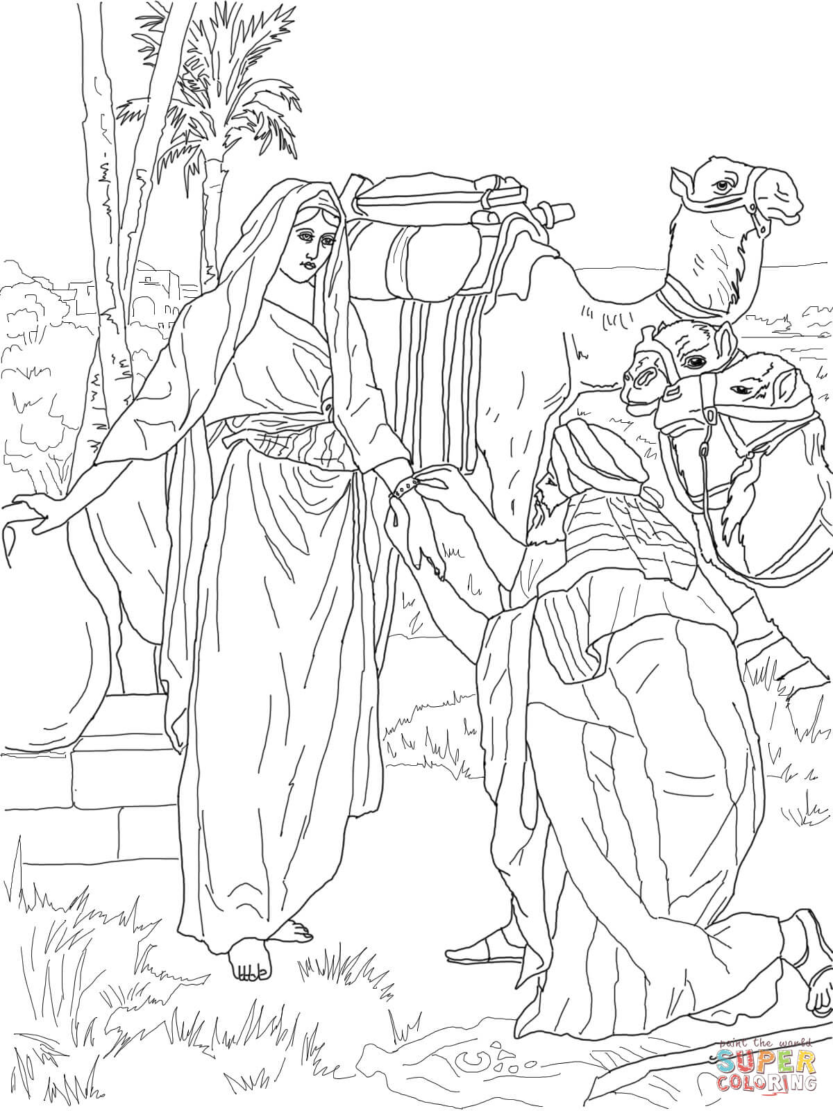 The Golden Calf Coloring Page Moses And Zipporah Coloring Page Free Printable Coloring Pages