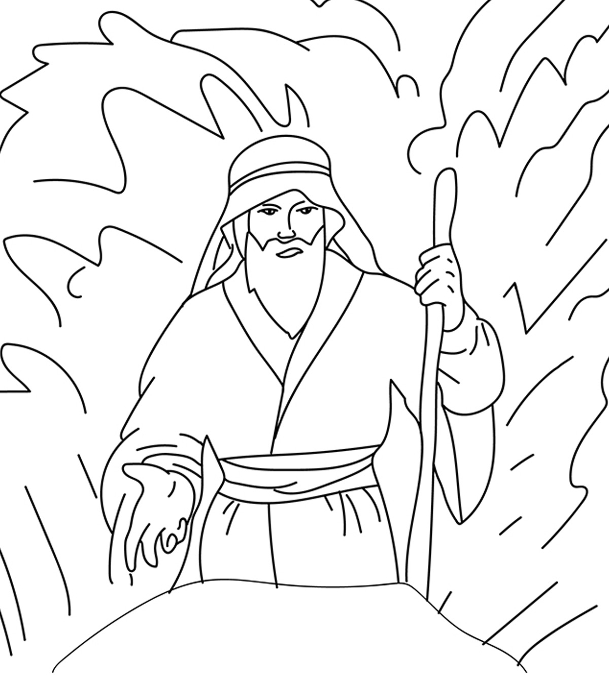 The Golden Calf Coloring Page Moses Coloring Pages Free Printables Momjunction