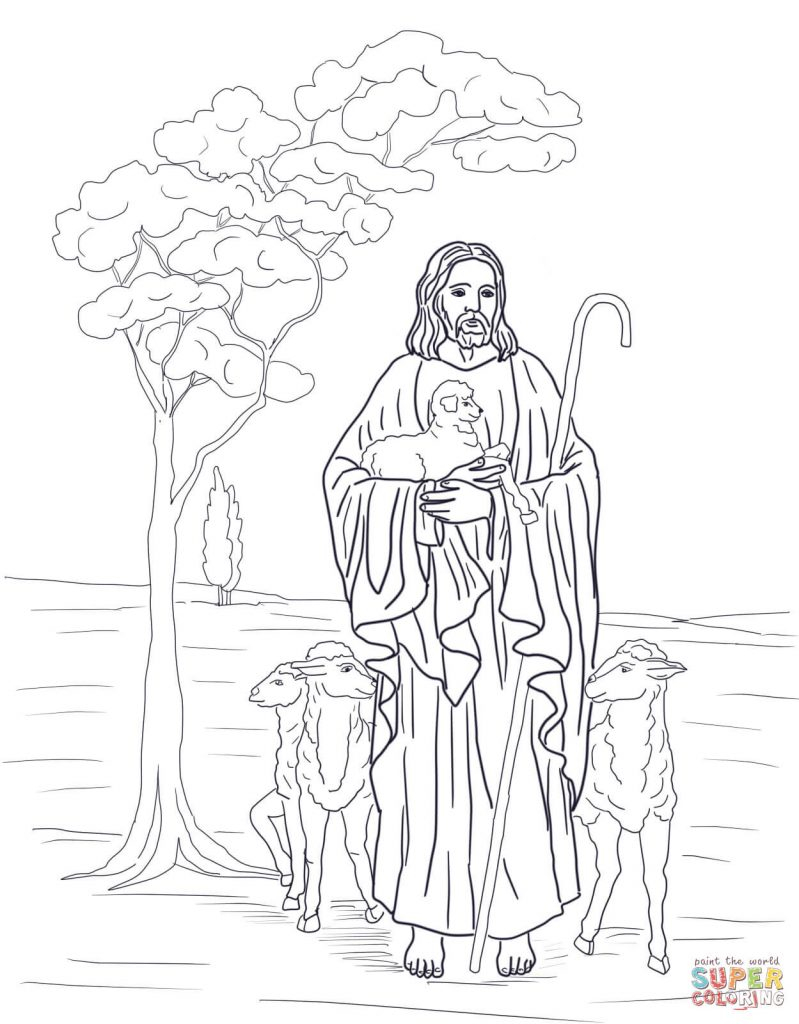 The Good Shepherd Coloring Page Download Jesus The Good Shepherd Coloring Pages Getwallpapers