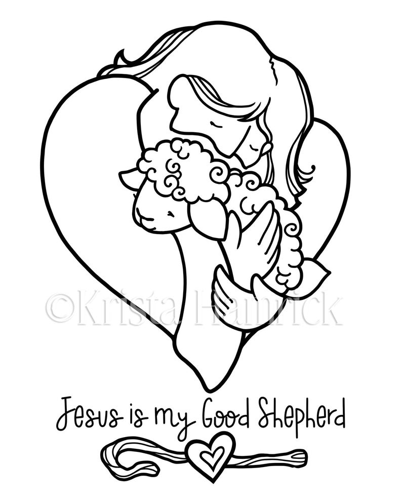 The Good Shepherd Coloring Page Good Shepherd 2 Coloring Pages For Children
