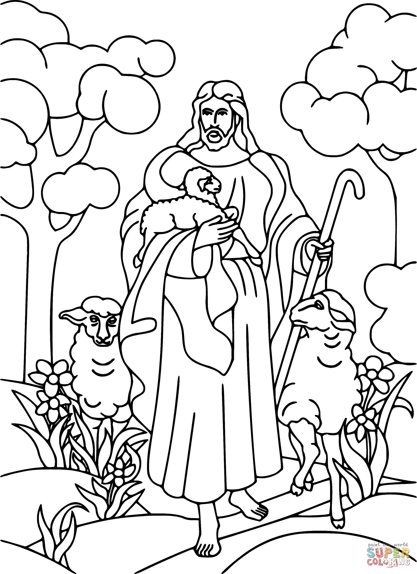 The Good Shepherd Coloring Page Good Shepherd Coloring Page Wiim Coloring Page