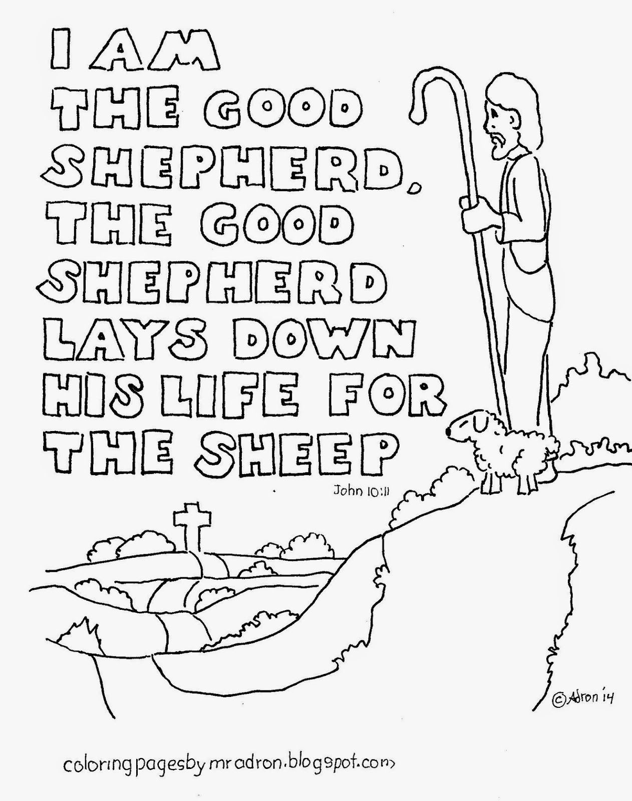 The Good Shepherd Coloring Page Good Shepherd Coloring Pages Free Coloring Page Coloring Home