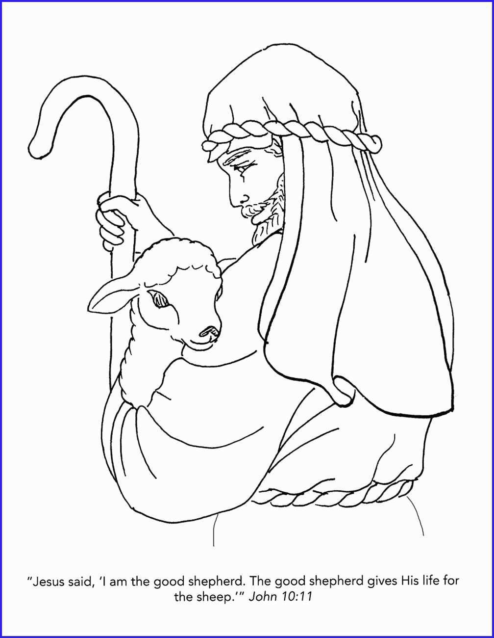The Good Shepherd Coloring Page Good Shepherd Coloring Pages Free New I Am The Good Shepherd