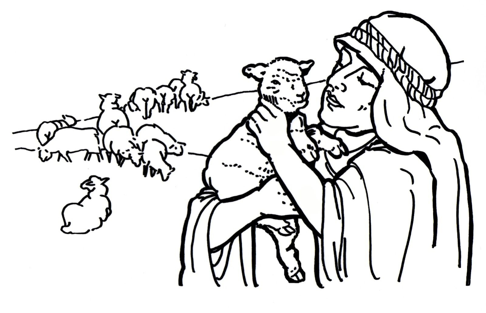 The Good Shepherd Coloring Page Good Shepherd Drawing Free Download Best Good Shepherd Drawing On