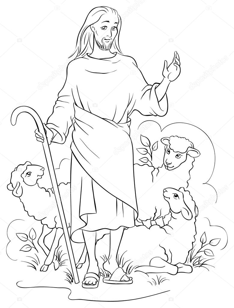 The Good Shepherd Coloring Page Jesus Is A Good Shepherd Colouring Page Also Available Colored