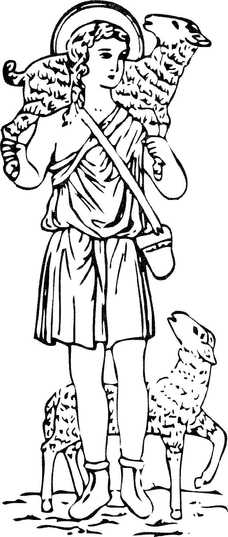 The Good Shepherd Coloring Page Jesus The Good Shepherd Coloring Pages