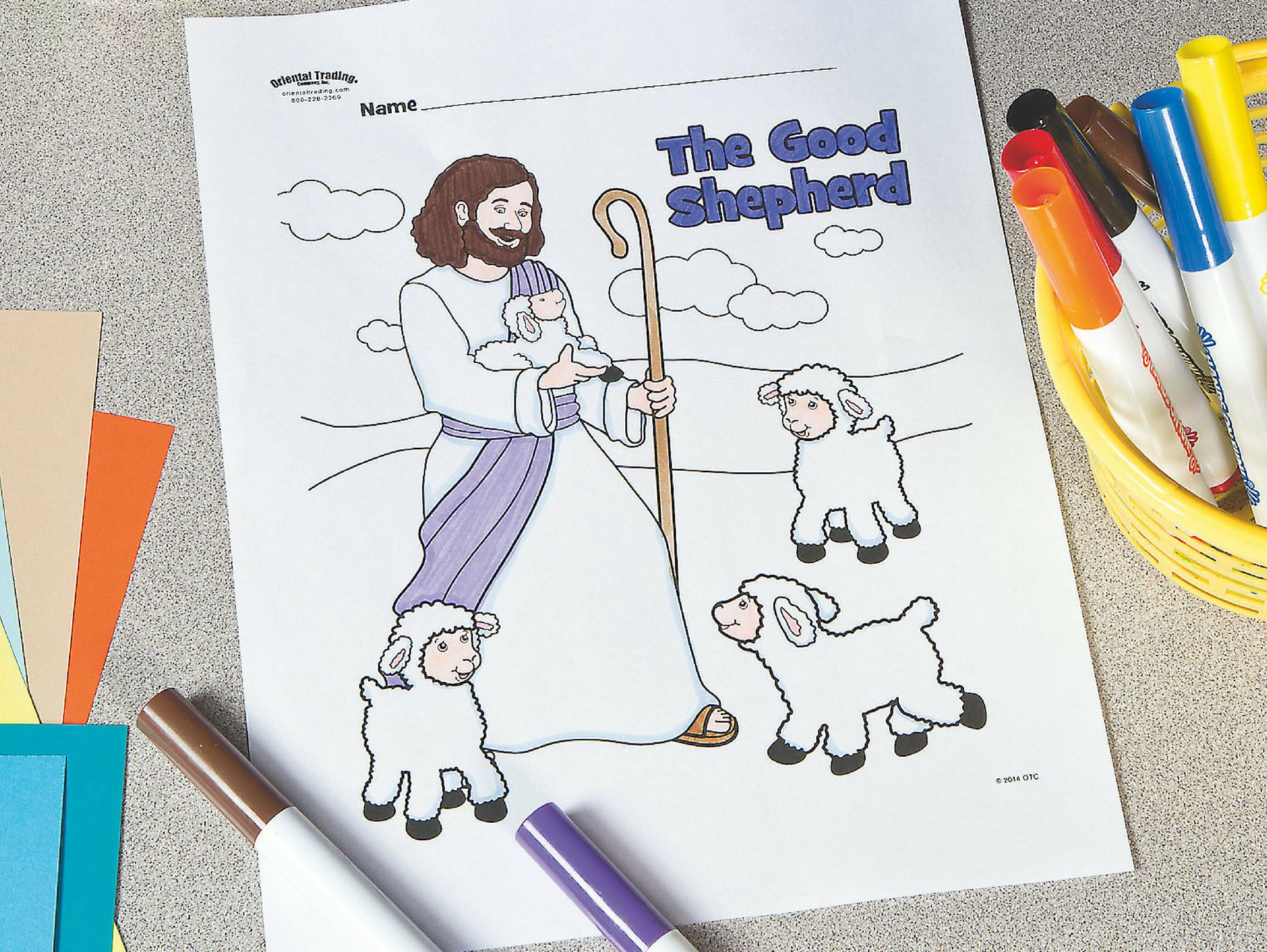 The Good Shepherd Coloring Page The Good Shepherd Free Printable Coloring Page Fun365