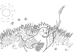 The Little Red Hen Coloring Pages Little Red Hen Coloring Pages Free Coloring Pages