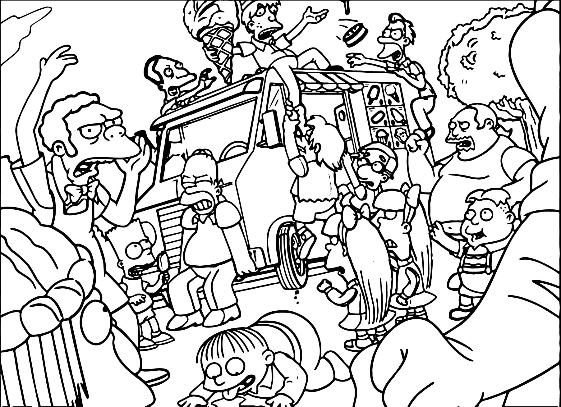 The Simpsons Coloring Pages Coloring Book Simpsons Coloring Pages Book Bart Simpson Pictures
