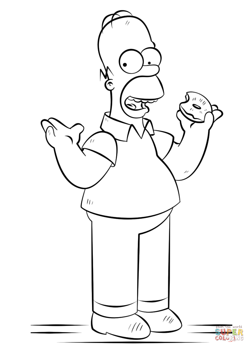 The Simpsons Coloring Pages Homer Simpson Coloring Page Free Printable Coloring Pages