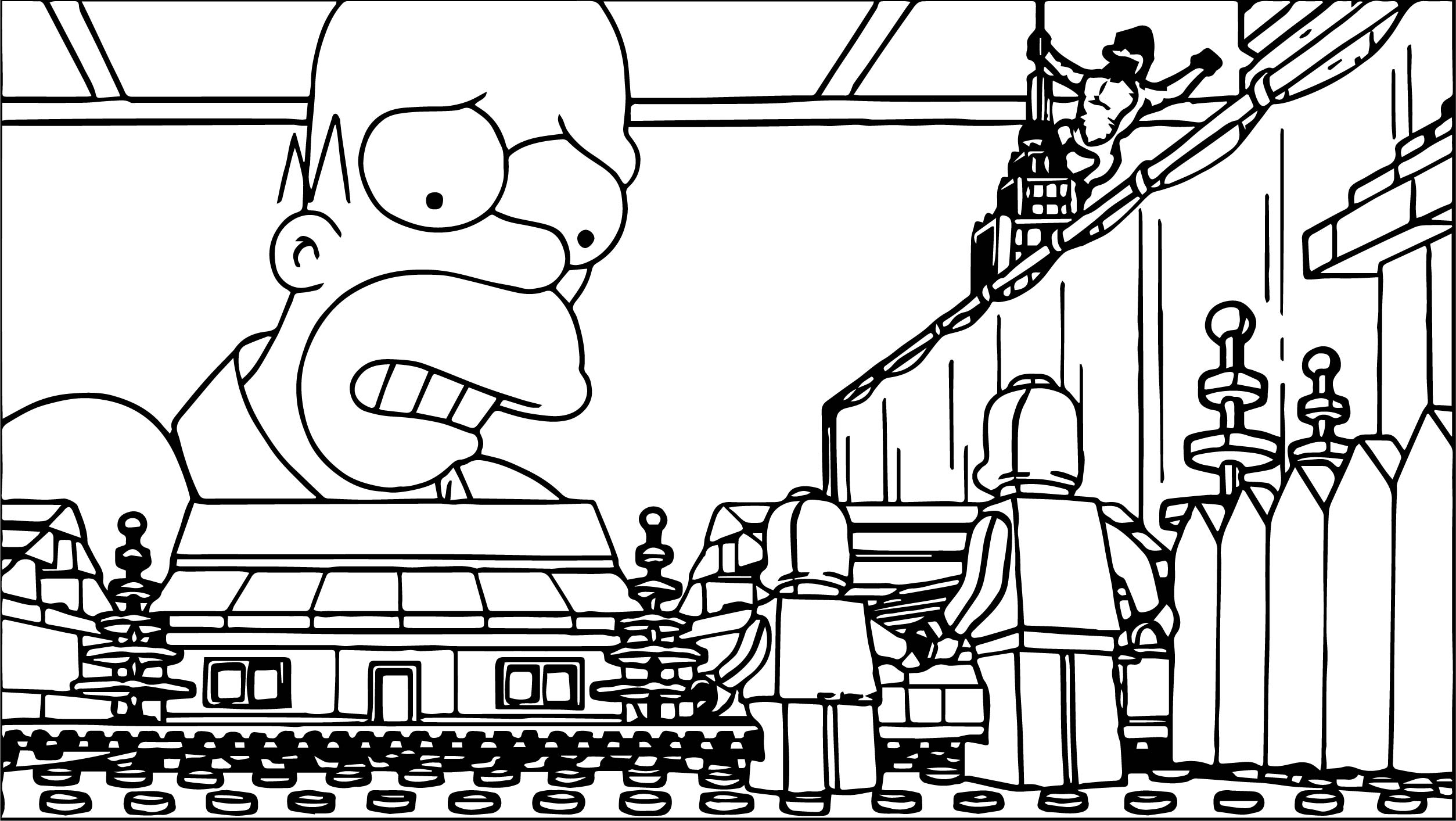 The Simpsons Coloring Pages Lego The Simpsons Coloring Page Wecoloringpage