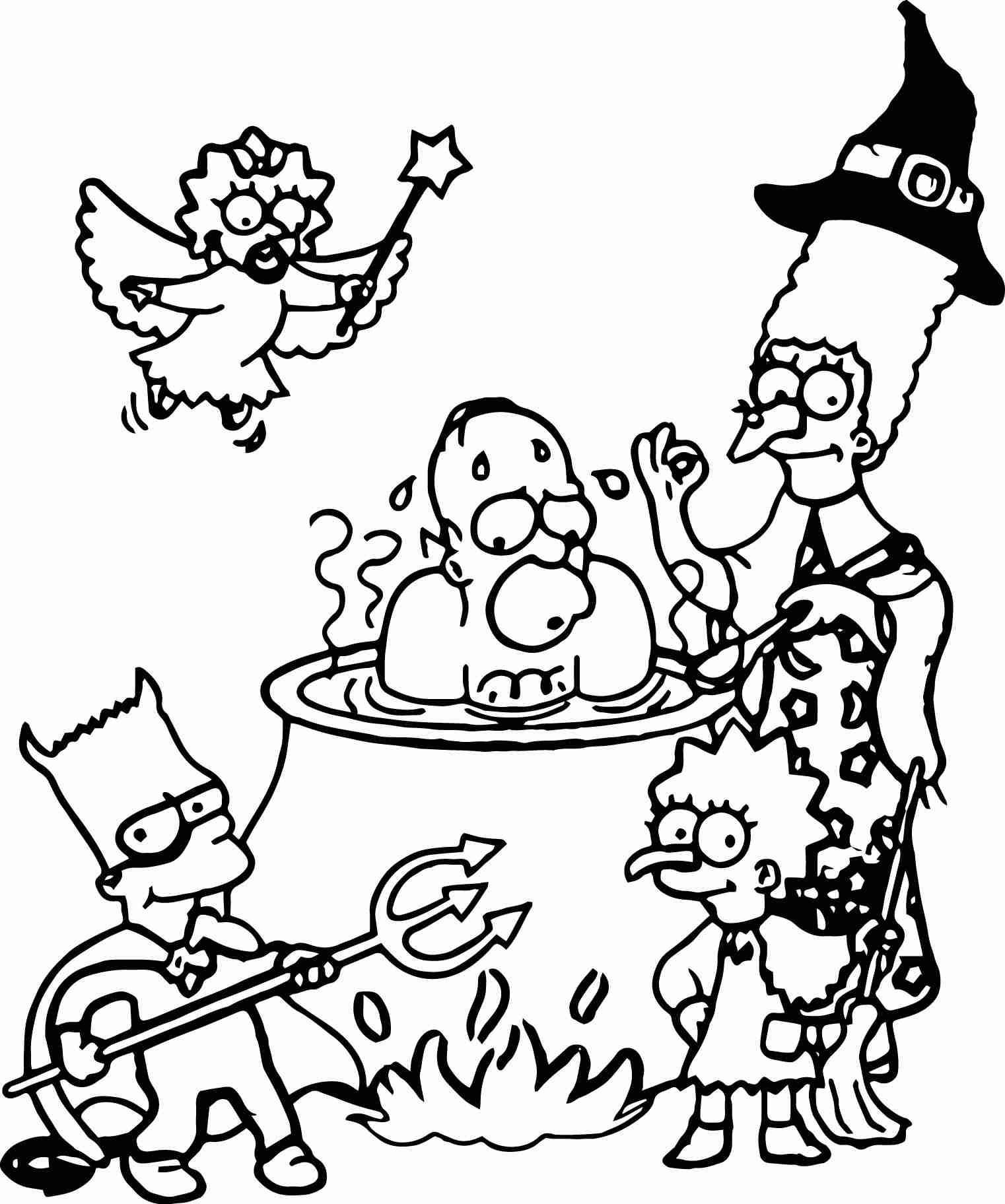 The Simpsons Coloring Pages Simpsons Coloring Pages Pictures High Bart Simpson Halloweenee