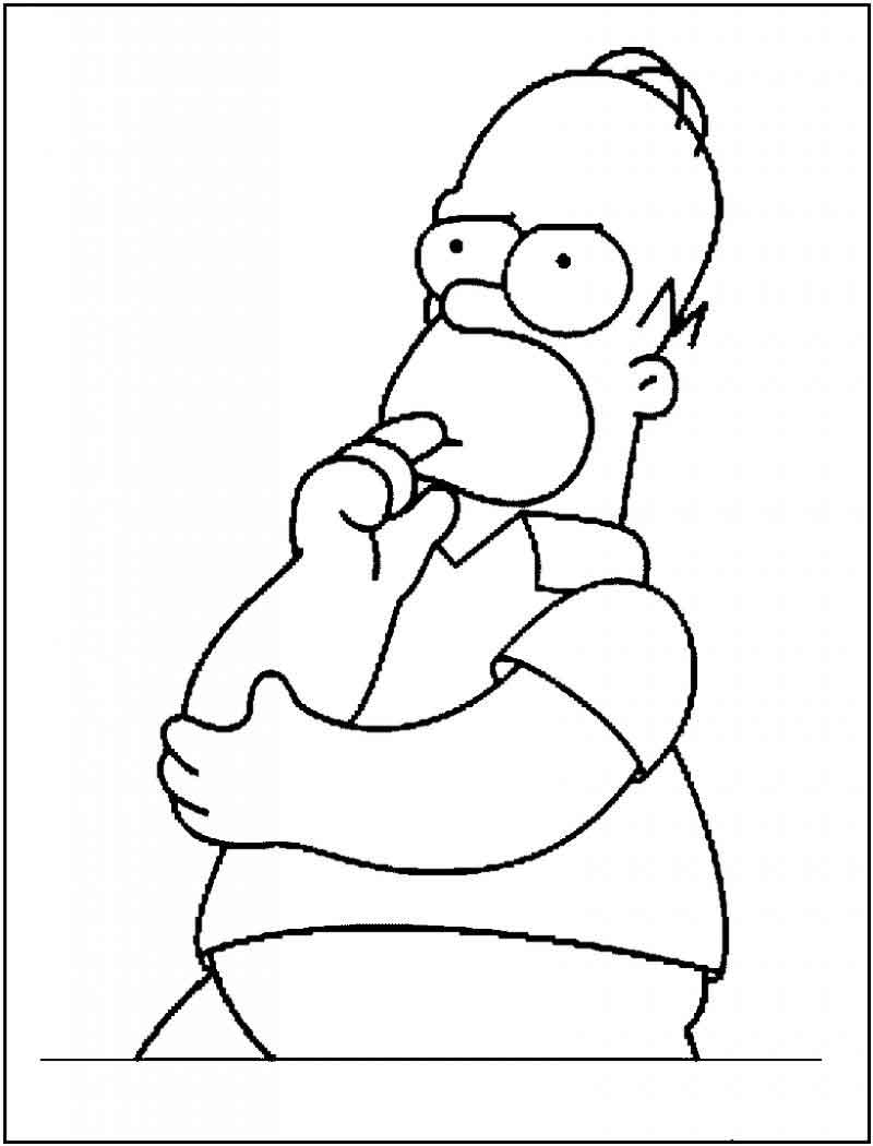 The Simpsons Coloring Pages Simpsons Coloring Pages