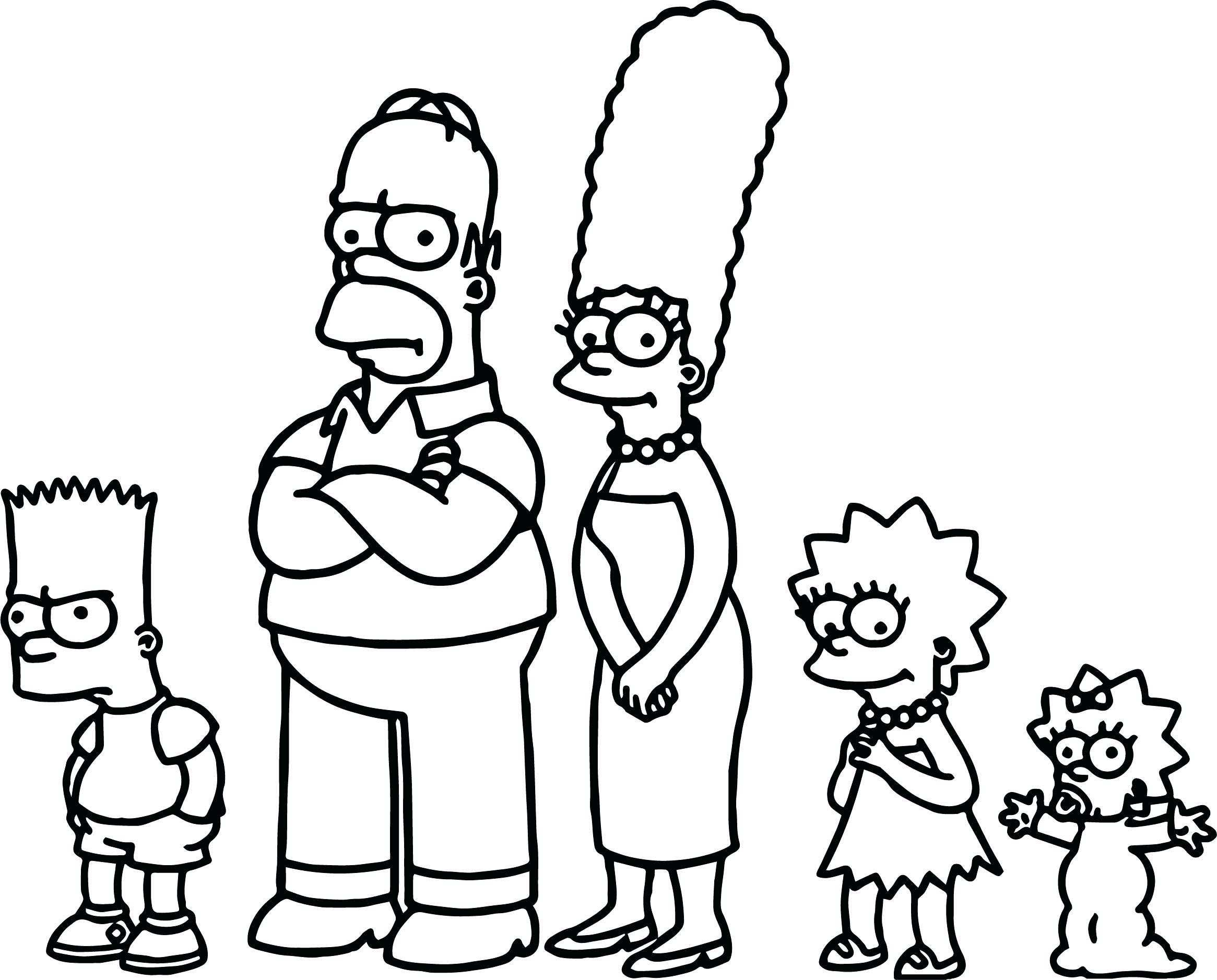 The Simpsons Coloring Pages The Simpsons Coloring Pages Monesmapyrene