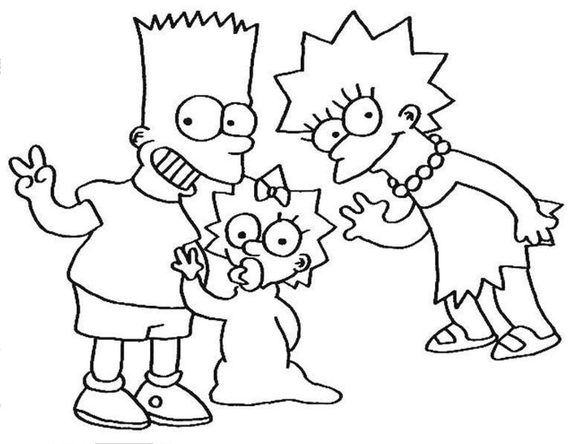 The Simpsons Coloring Pages The Simpsons Coloring Pages To Print At Getdrawings Free For