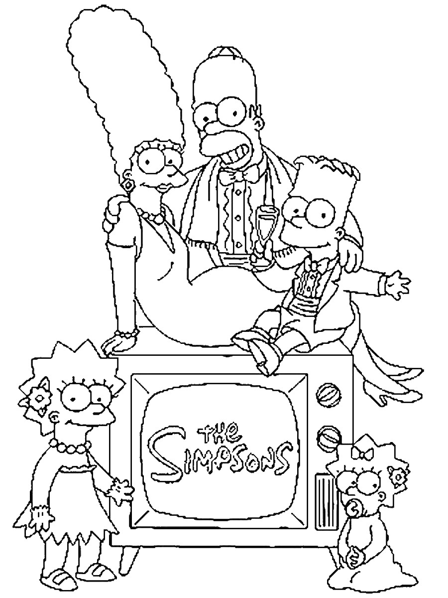 The Simpsons Coloring Pages The Simpsons To Download For Free The Simpsons Kids Coloring Pages