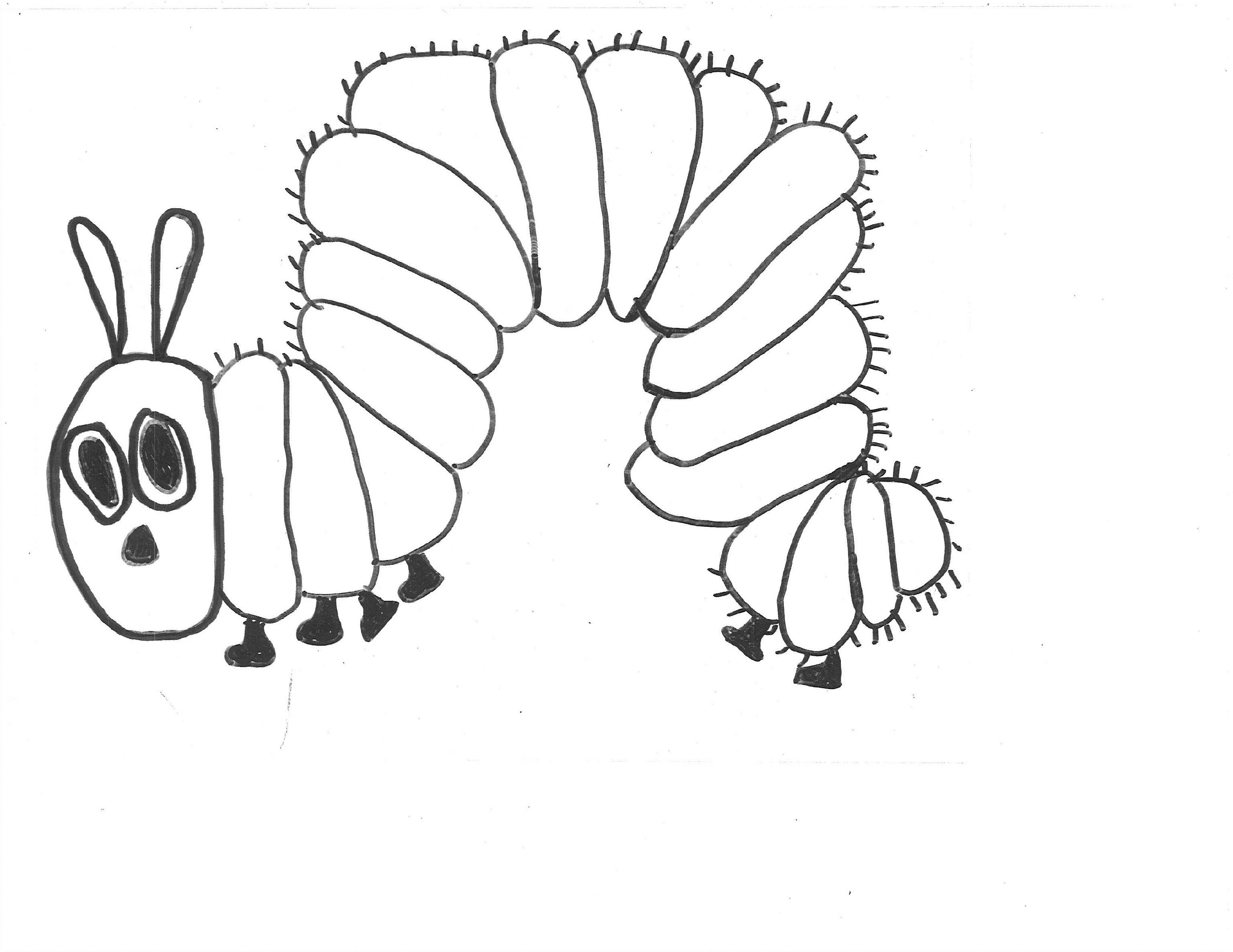 The Very Clumsy Click Beetle Coloring Pages The Very Hungry Caterpillar