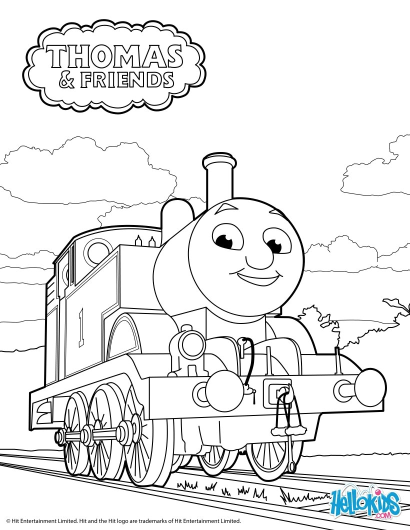 Thomas And Friends Coloring Pages Thomas The Tank Engine Coloring Pages Hellokids