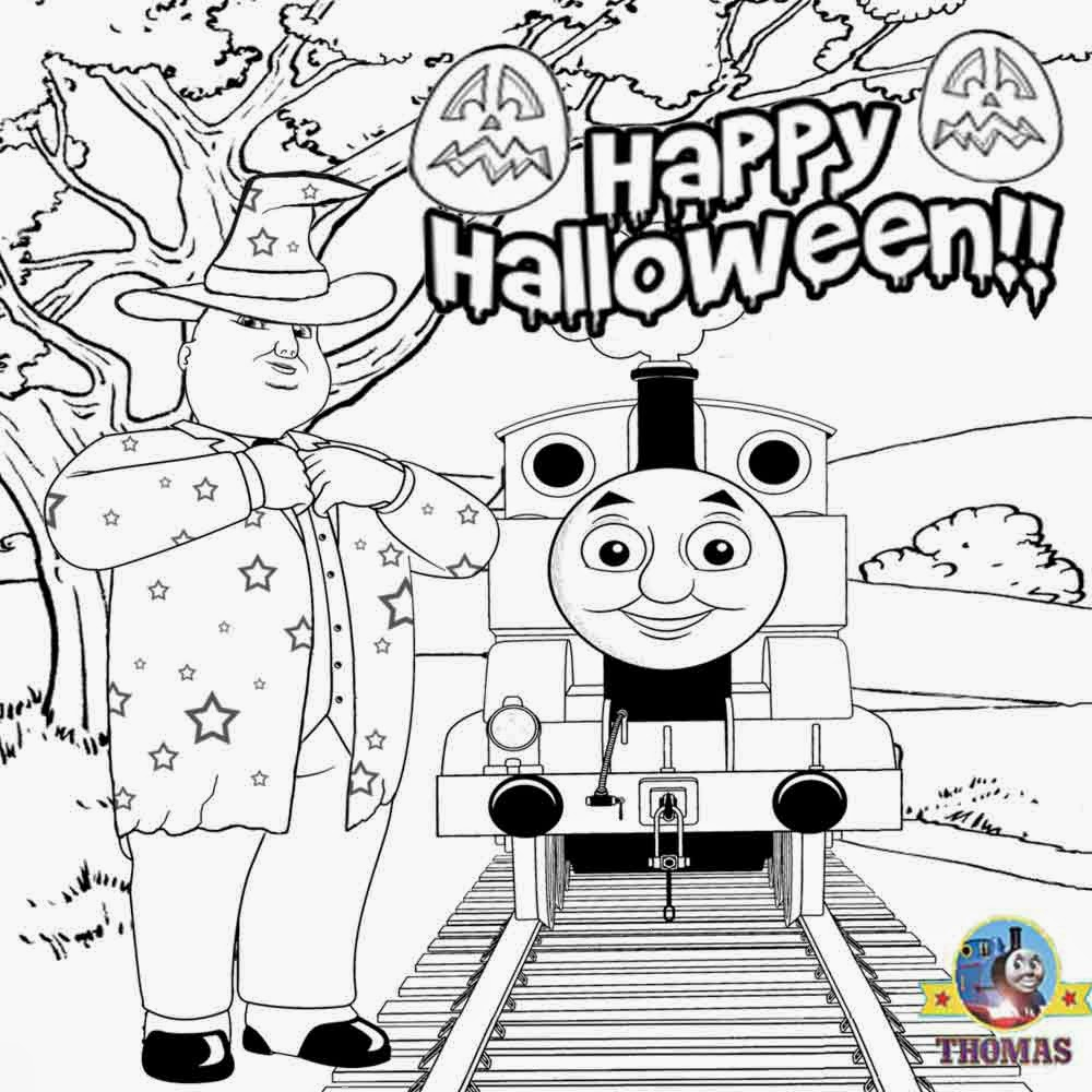 Thomas And Friends Coloring Pages Thomas The Train Halloween Coloring Pages Pathtalk