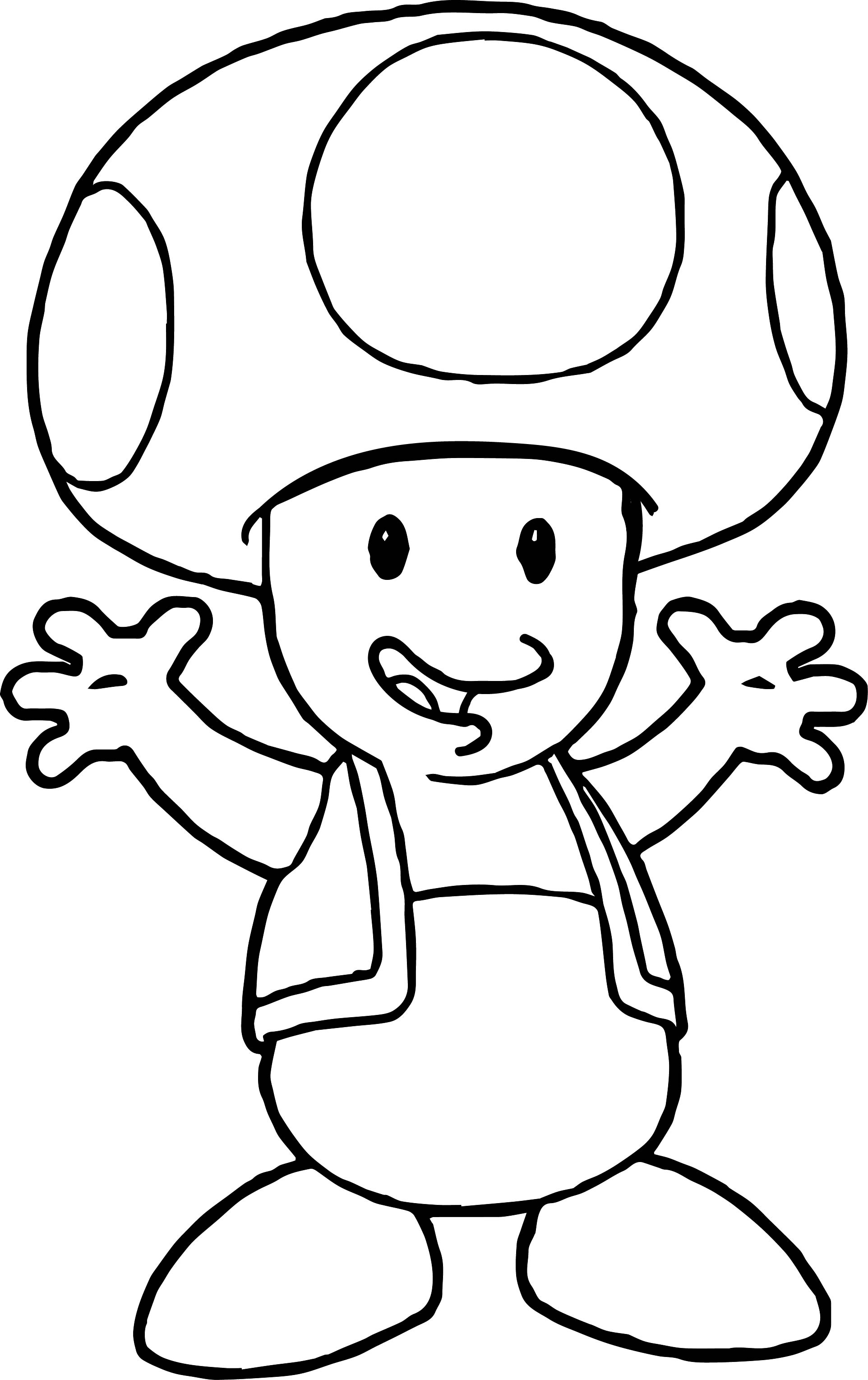 Toad And Toadette Coloring Pages Coloring Mario Nintendong Pages Vector Art Black And White Free