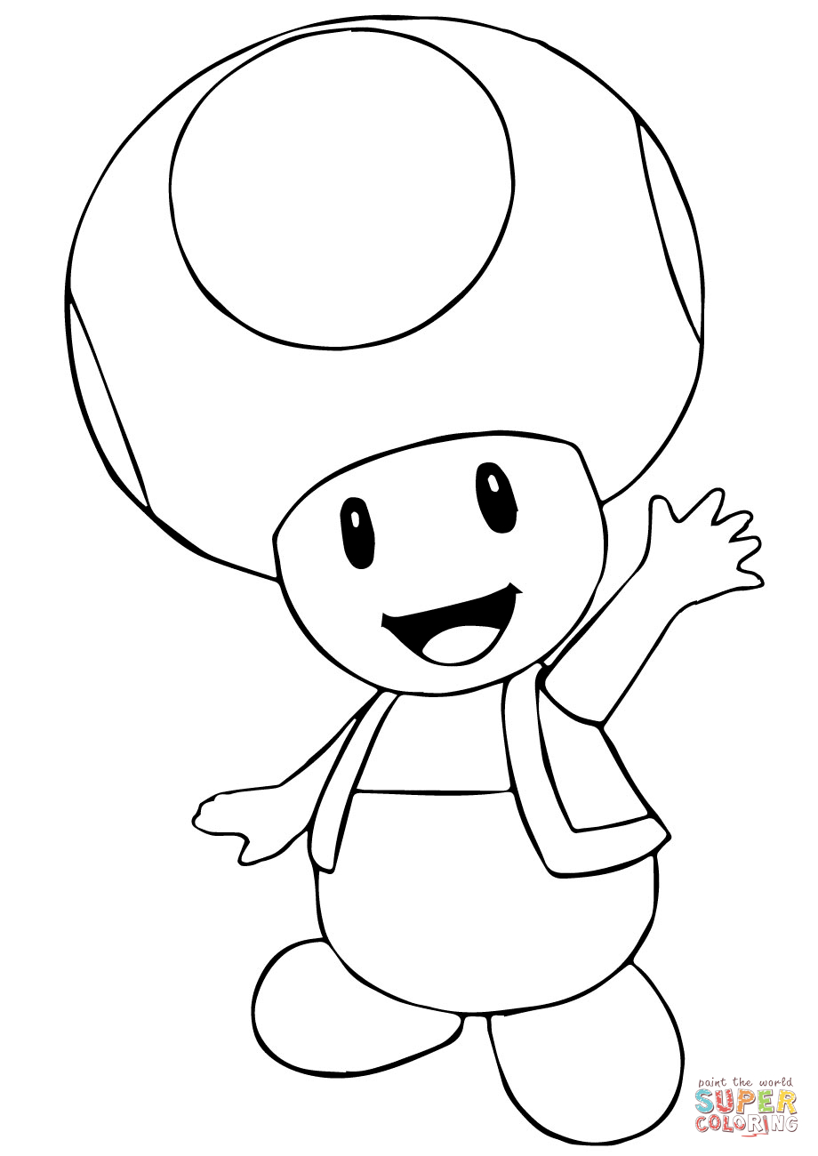 Toad And Toadette Coloring Pages Mario Bros Toad Coloring Page Free Printable Coloring Pages