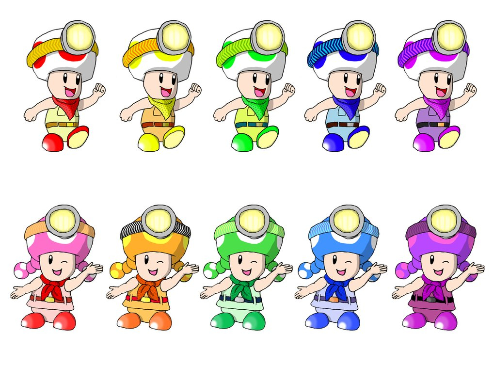 Toad And Toadette Coloring Pages Orange Toadette Images Reverse Search