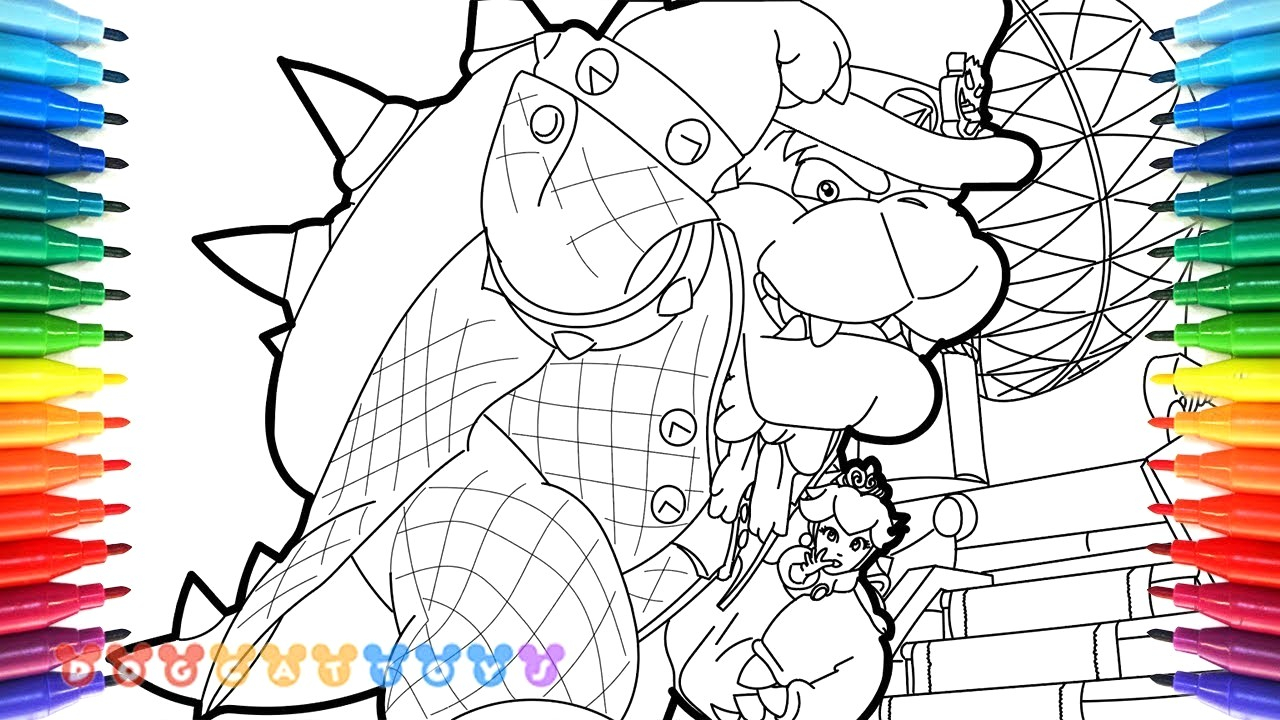 Toad And Toadette Coloring Pages Toad And Toadette Coloring Pages Super Mario New Of Bowser