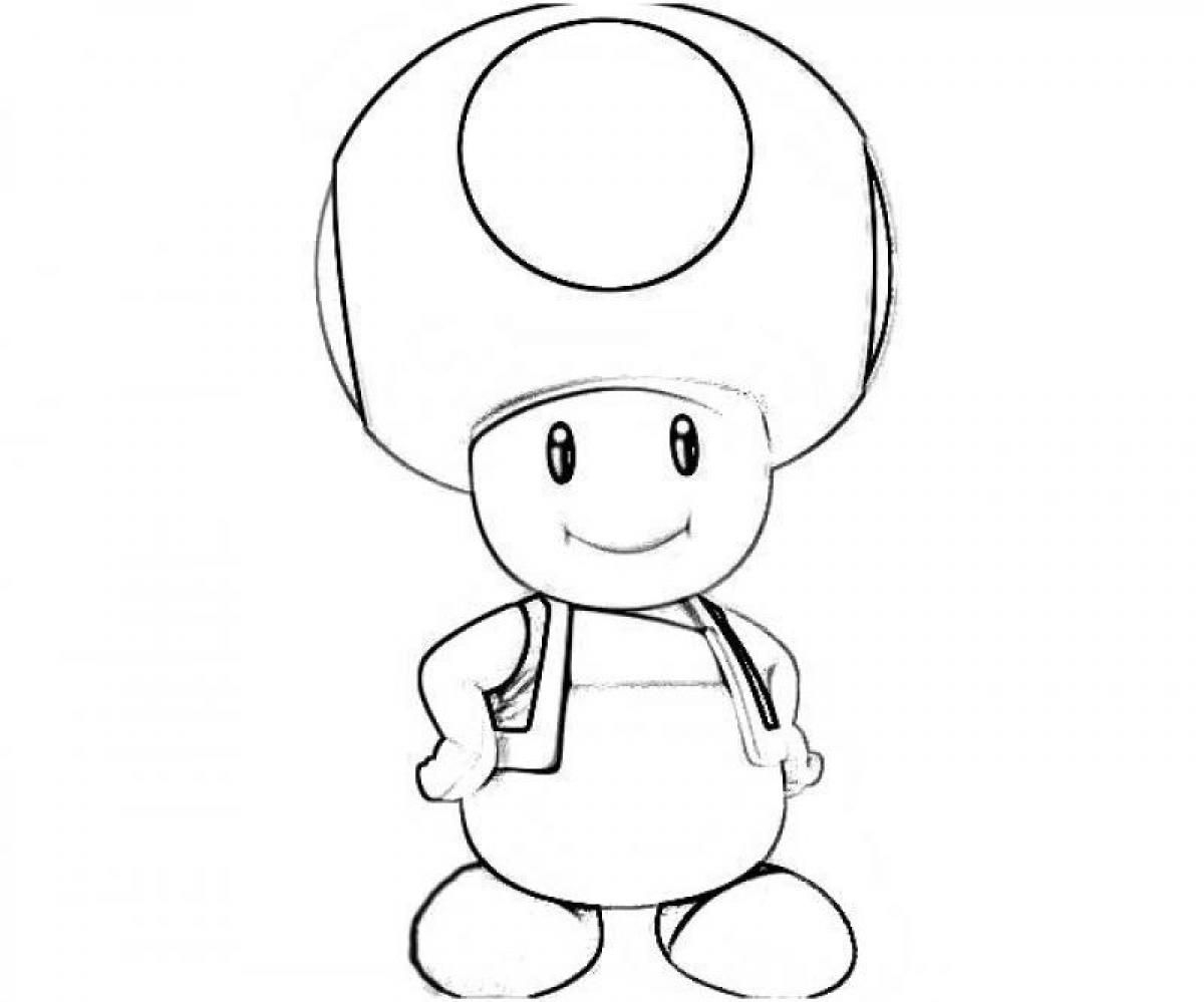 Toad And Toadette Coloring Pages Yoshi And Toad Coloring Pages Coloring Home