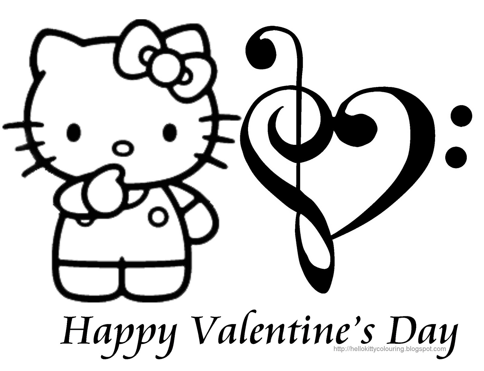 Valentine Coloring Book Pages Hello Kitty Coloring Pages