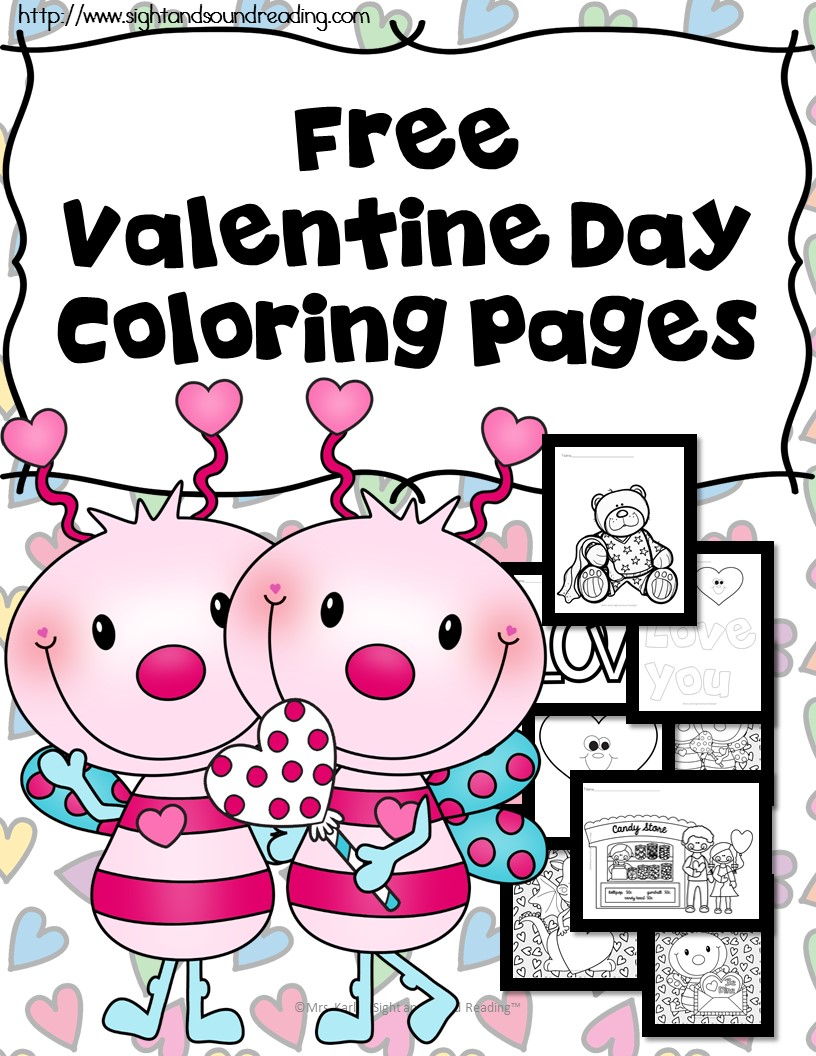 Valentine Coloring Book Pages Printable Valentine Coloring Book Pictures The Homeschool Village