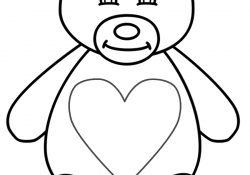 Valentine Teddy Bear Coloring Pages Teddy Bear Coloring Page Valentines Day