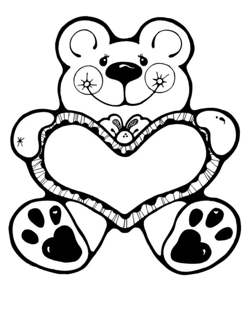 Valentines Day Hearts Coloring Pages Coloring Coloring Valentine Day Pages Printable Hearts Pictures