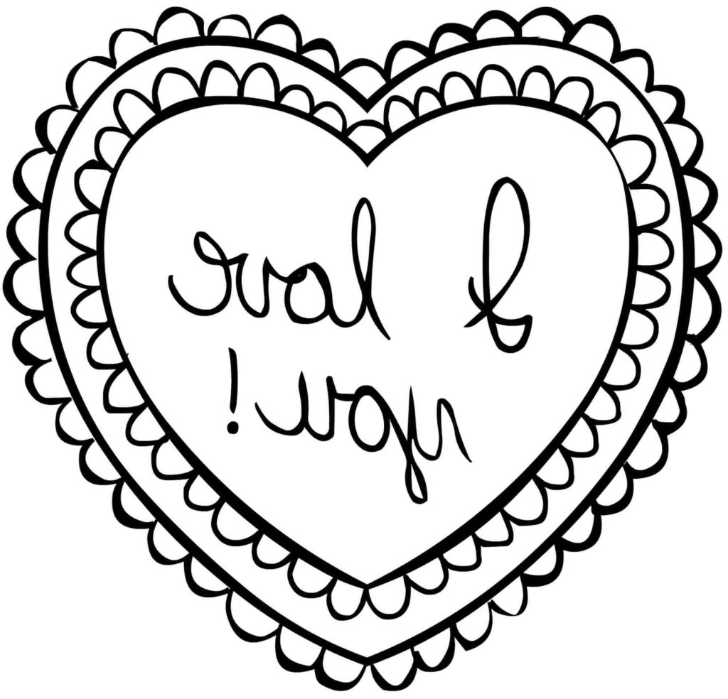 Valentines Day Hearts Coloring Pages Coloring Coloring Valentines Day Pages Printable Image Ideas