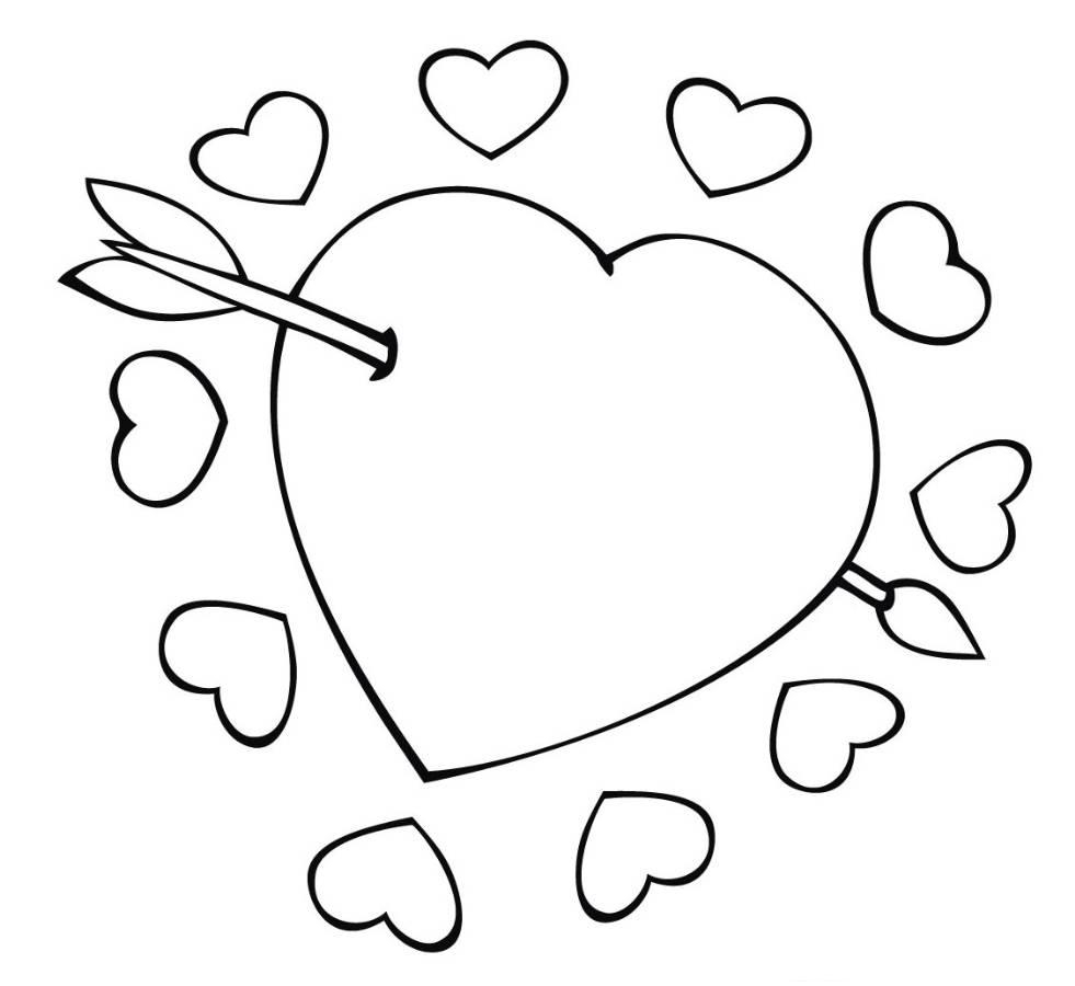 Valentines Day Hearts Coloring Pages Heart Coloring Pages Coloringrocks