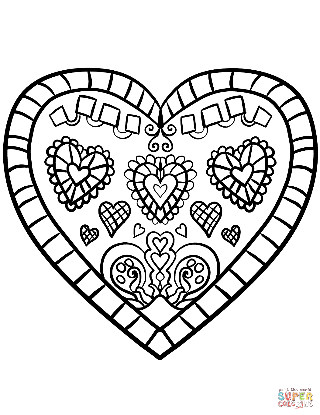 Valentines Day Hearts Coloring Pages Heart Coloring Pages Free Printable Pictures
