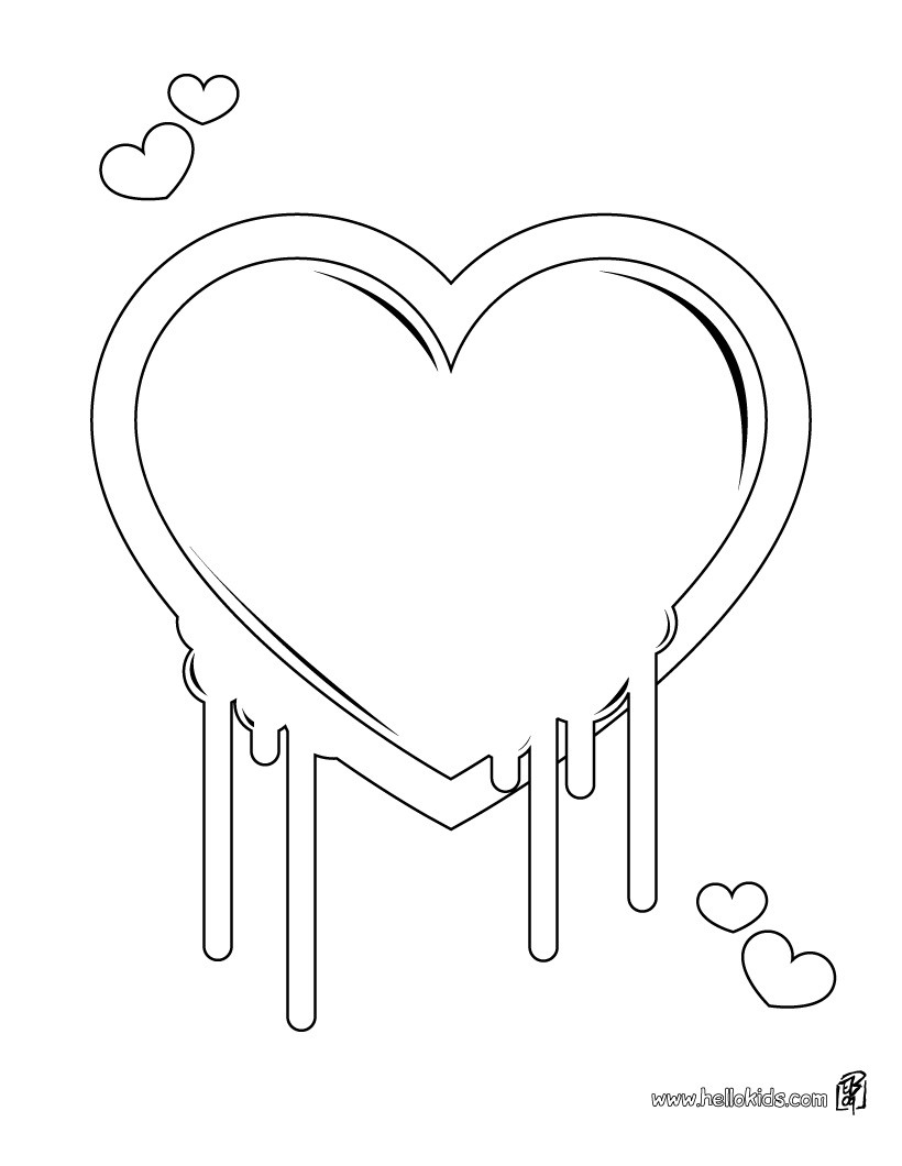 Valentines Day Hearts Coloring Pages Heart Lollipop Coloring Pages Hellokids
