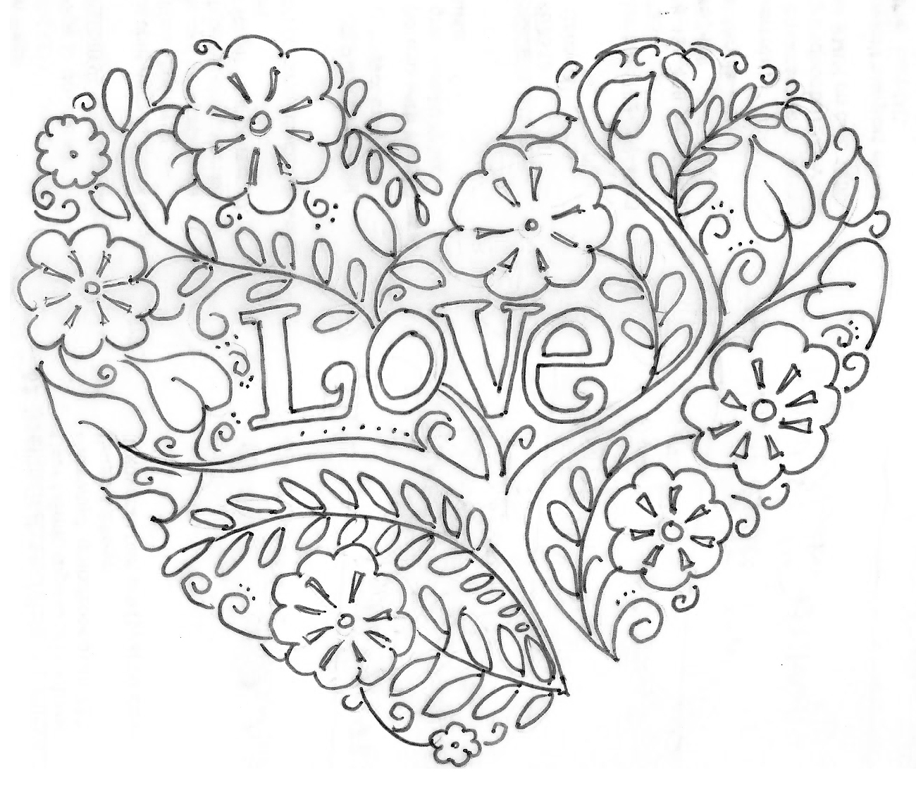 Valentines Day Hearts Coloring Pages Printable Valentines Day Coloring Pages My Craftily Ever After