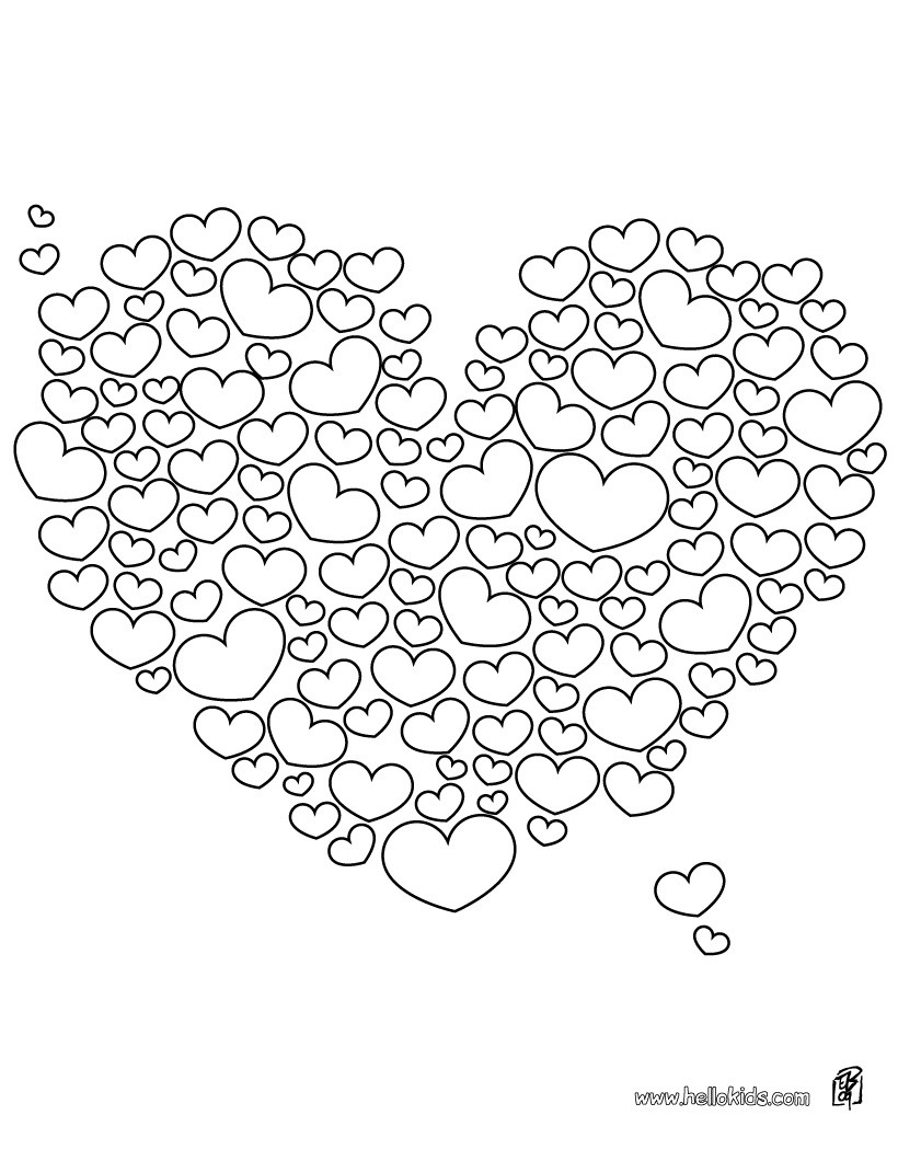Valentines Day Hearts Coloring Pages Valentines Hearts Coloring Pages Hellokids