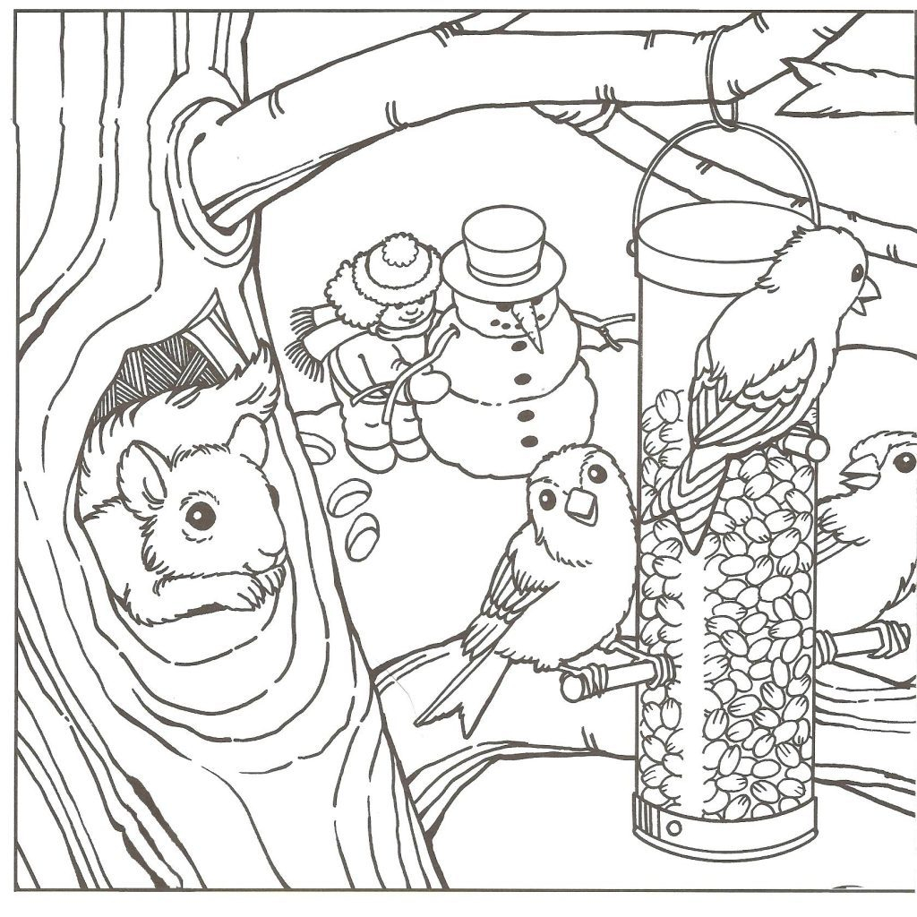 Winter Coloring Pages Printable Coloring Books Free Winter Coloring Sheets For Preschoolers Unique