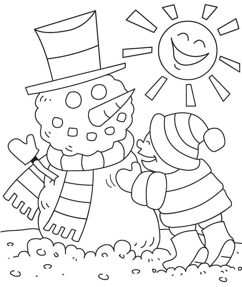 Winter Coloring Pages Printable Coloring Ideas Winter Coloring Pages For Toddlers Ideas Printable