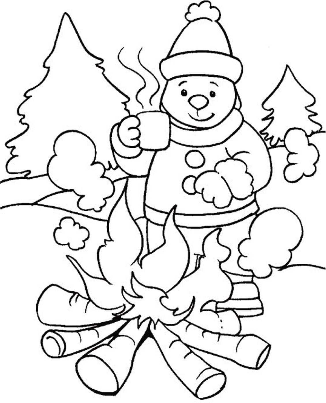 Winter Coloring Pages Printable Coloring Pages Winter Coloring Pagesor Kids New Youree Sheets