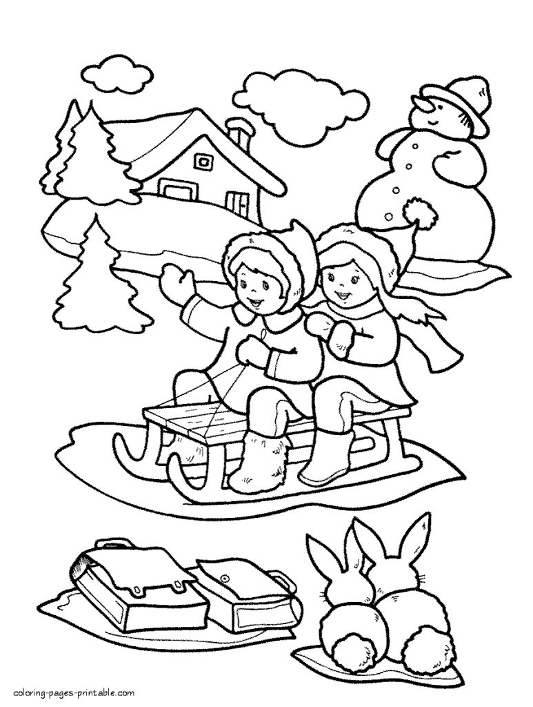 Winter Coloring Pages Printable Coloring Remarkableinter Coloring Pages For Kids Photo Ideas In