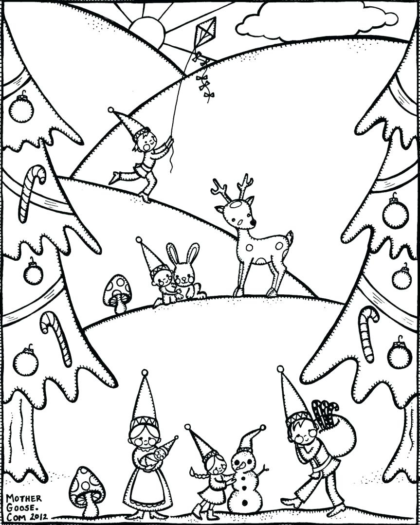 Winter Coloring Pages Printable Winter Coloring Page Free Micronsheetco