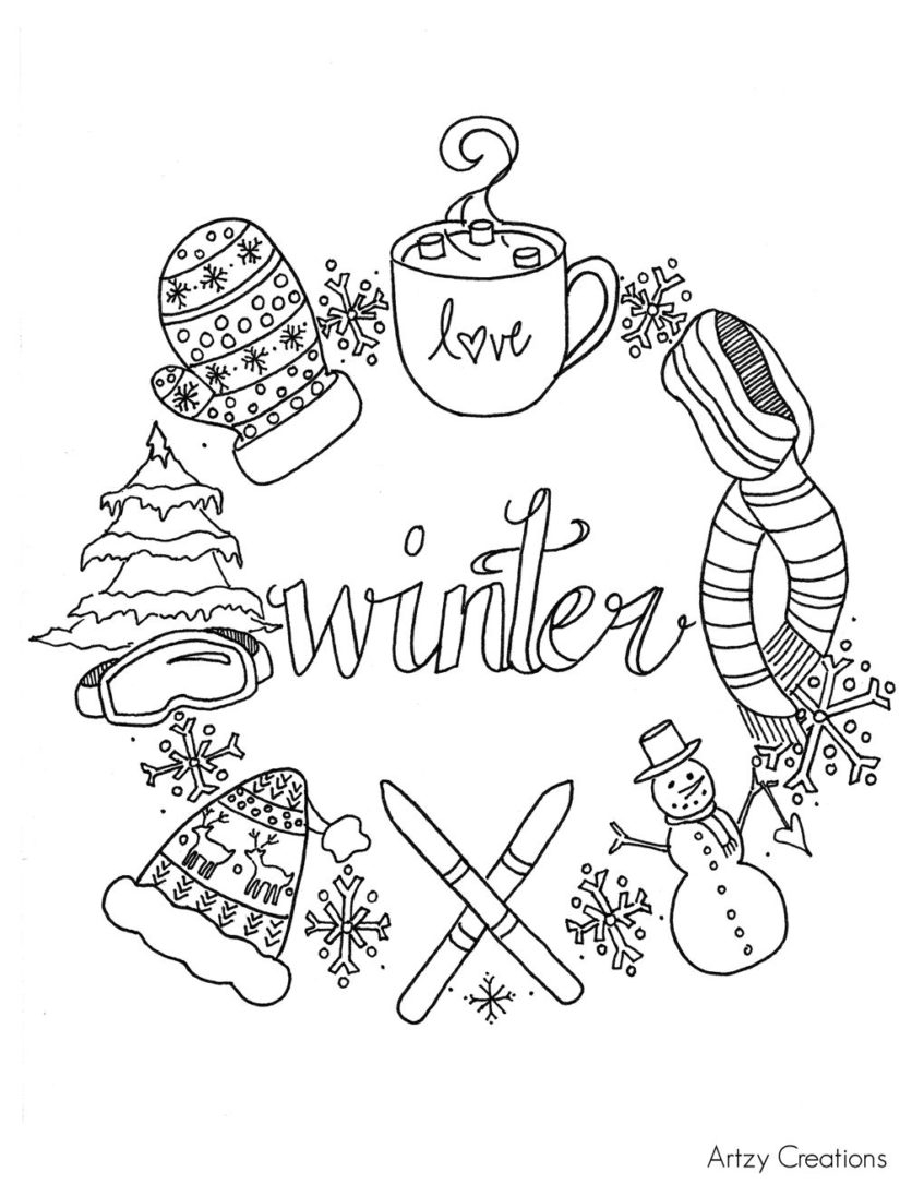 Winter Coloring Pages Printable Winter Coloring Pages Pathtalk