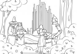 Wizard Of Oz Printable Coloring Pages Wizard Of Oz Emerald City Coloring Page Free Printable Coloring Pages