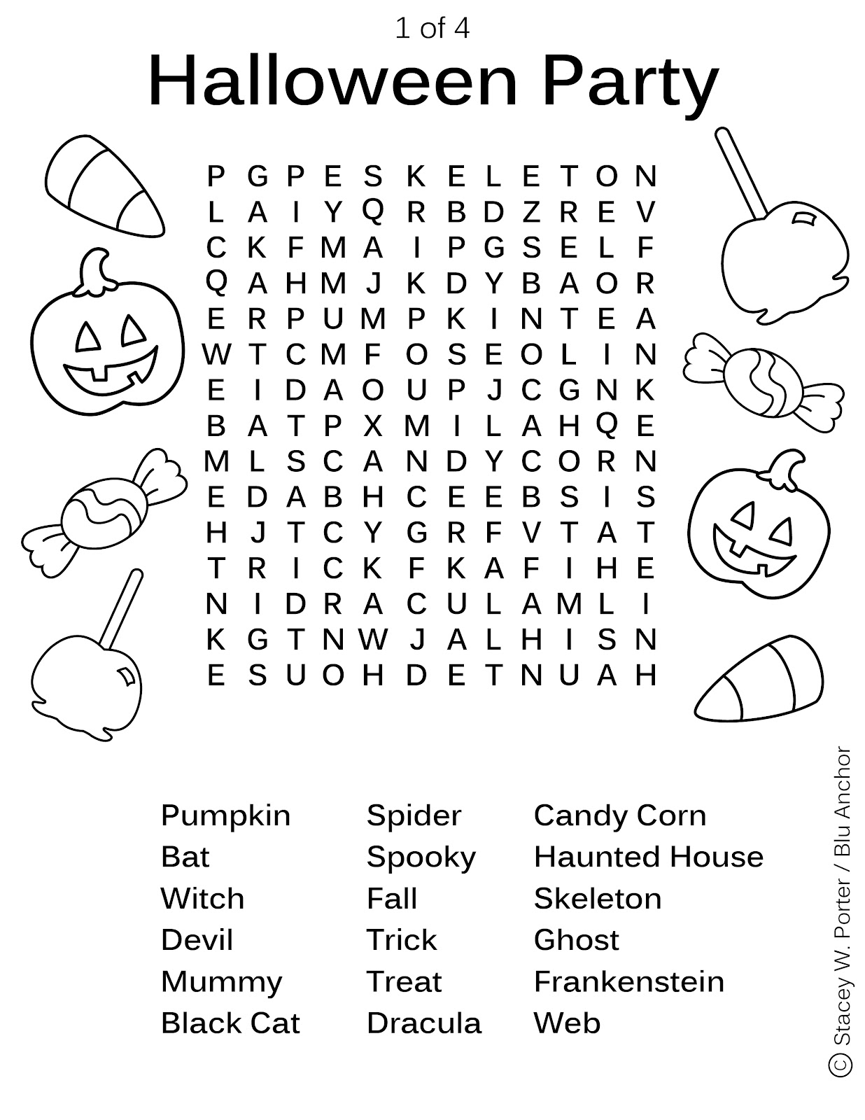 Word Search Coloring Pages Free Halloween Activity Sheets Party Word Find Sheet 1 Of 4 Best