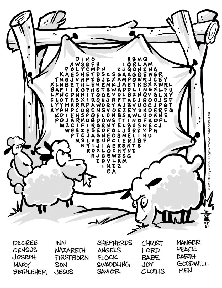 Word Search Coloring Pages To Print Coloring Christmas Kids Coloring Page Pages Kid S Calvary Aurora