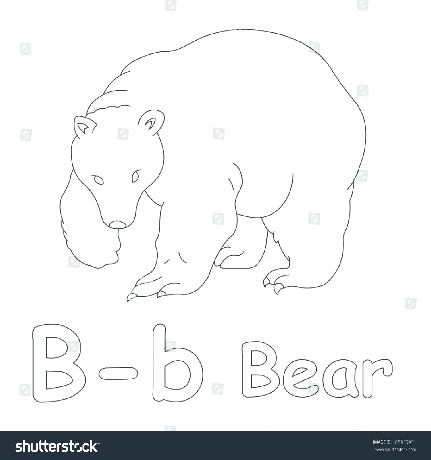 Yogi Bear Coloring Page B Is For Bear Coloring Page Printable B Coloring Pages For